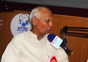 Sri Man Pal Singh Verma, Hon'ble Minister of State, Utter Pradesh addressing listeners