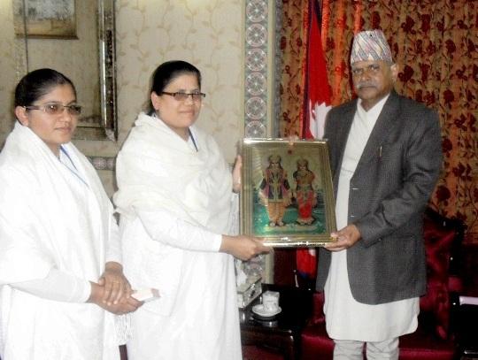 Brahmakumaris Meeting the First President of Republic of Nepal