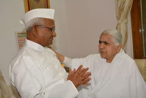Social Activist Padmabhushan Anna.Hazare Visits Brahma Kumaris H.Q at Mount Abu