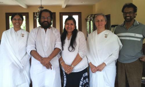 Brahmakumari Sisters Tying Rakhi to Legendary Singer  K.J.Yesudas Ji