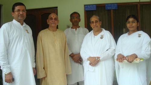 Varanasi - Prof. Rewa Prasad Devedi  Prof. Sadashiv Devedi with Resp. Surendra Didi Bro. Dipendra  B