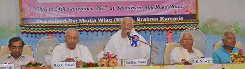 Media Conference-2013 Inaugurated at Brahmakumaris Shantivan, Abu Road