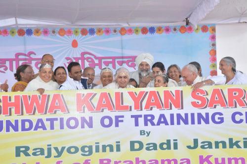 Brahmakumaris Chief  Dadi Janki ji Visits Sonepat Retreat Centre in Haryana