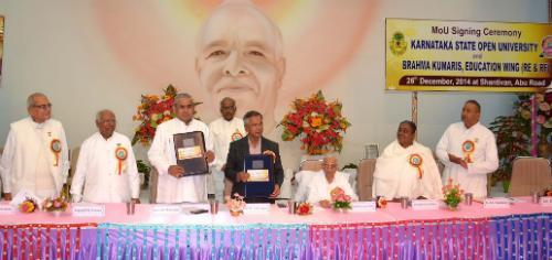 MoU Signing Ceremony of Brahma Kumaris Education Wing and Karnataka State Open University