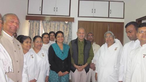 BK Asha Didi Congratulates Bro Manish Sisodia Deputy Chief Minister of Delhi