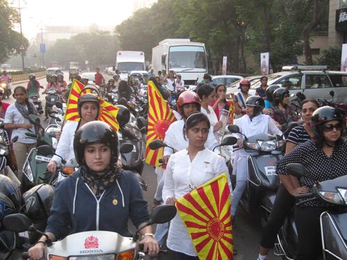 "Brahmakumaris Participate in "" All Women Bike Rally"" in Mumbai Thane"